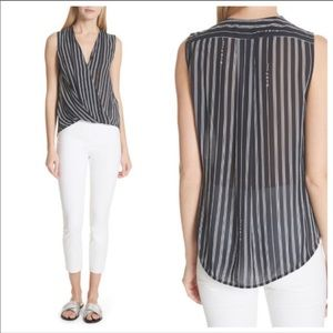 Rag & Bone Sleeveless Victor Striped Blouse